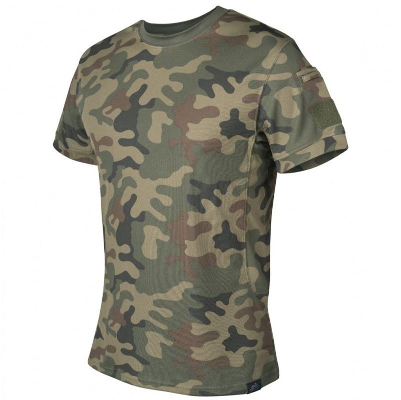 Koszulka termoaktywna Tactical T-shirt Helikon TopCool PL Woodland wz.93 (TS-TTS-TC-04) H