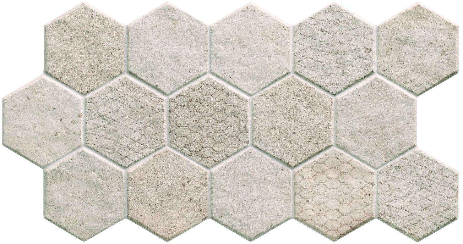 Malta Hex Taupe 31x56 płytki heksagonalne na podłogę