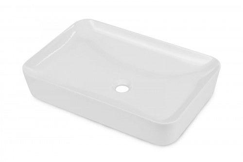 Umywalka 59,7xx39,6x11 cm ceramiczna nablatowa, biała
