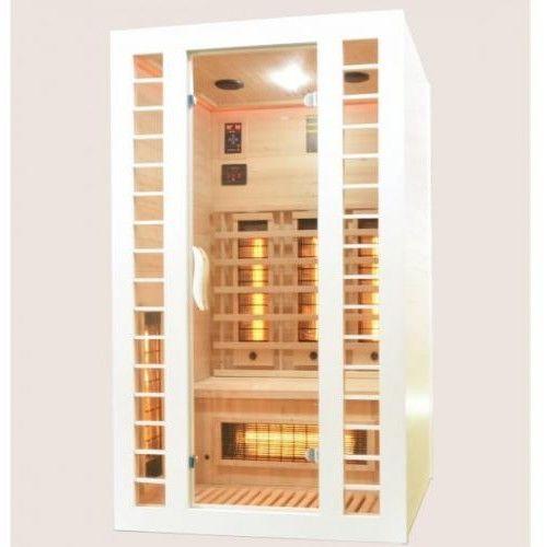 FRESH-BIAŁA Sauna na podczerwień 2 osobowa 120x105 cm J11120