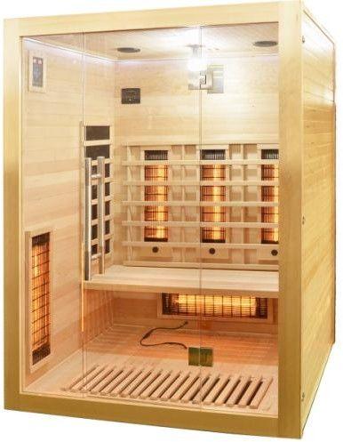 OPEN Sauna na podczerwień 3 osobowa 150x120 cm J20150