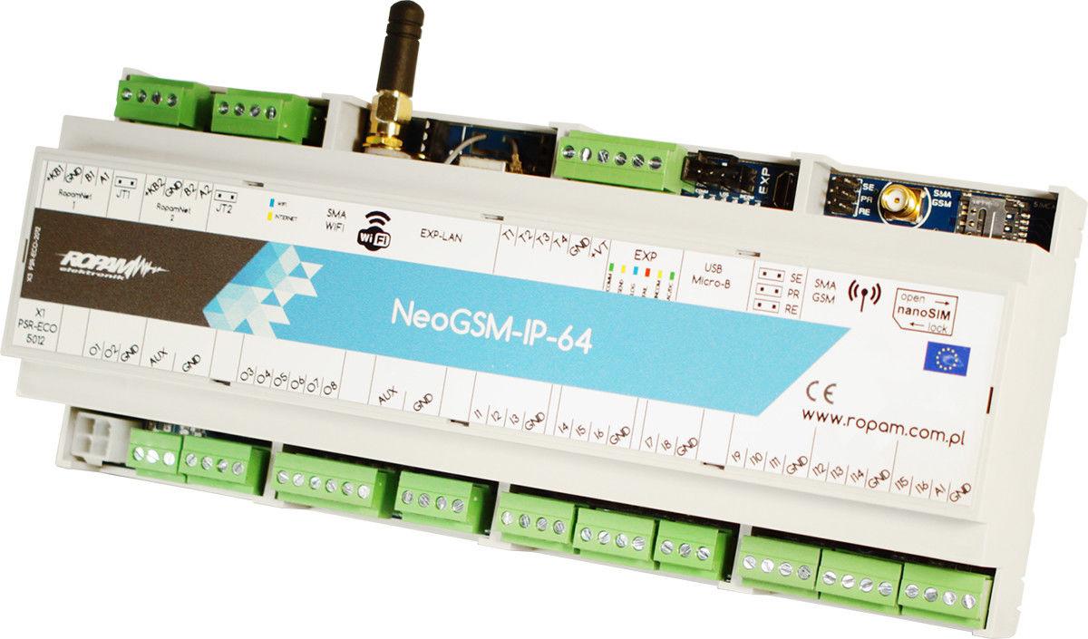 Ropam Elektronik NeoGSM-IP-64-D12M centrala alarmowa (16/8 I/O, GSM/WIFI, ECO) - Szybka wysyłka, Możliwy montaż, Upusty dla instalatorów, Profesjonalne doradztwo!