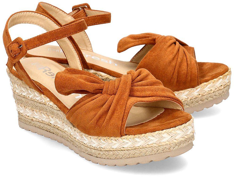 Refresh - Sandały Damskie - 69531 CAMEL - Brązowy
