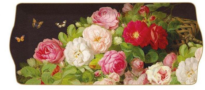 PORCELANOWY PÓŁMISEK DESEROWY Victorian Garden - Kwiaty