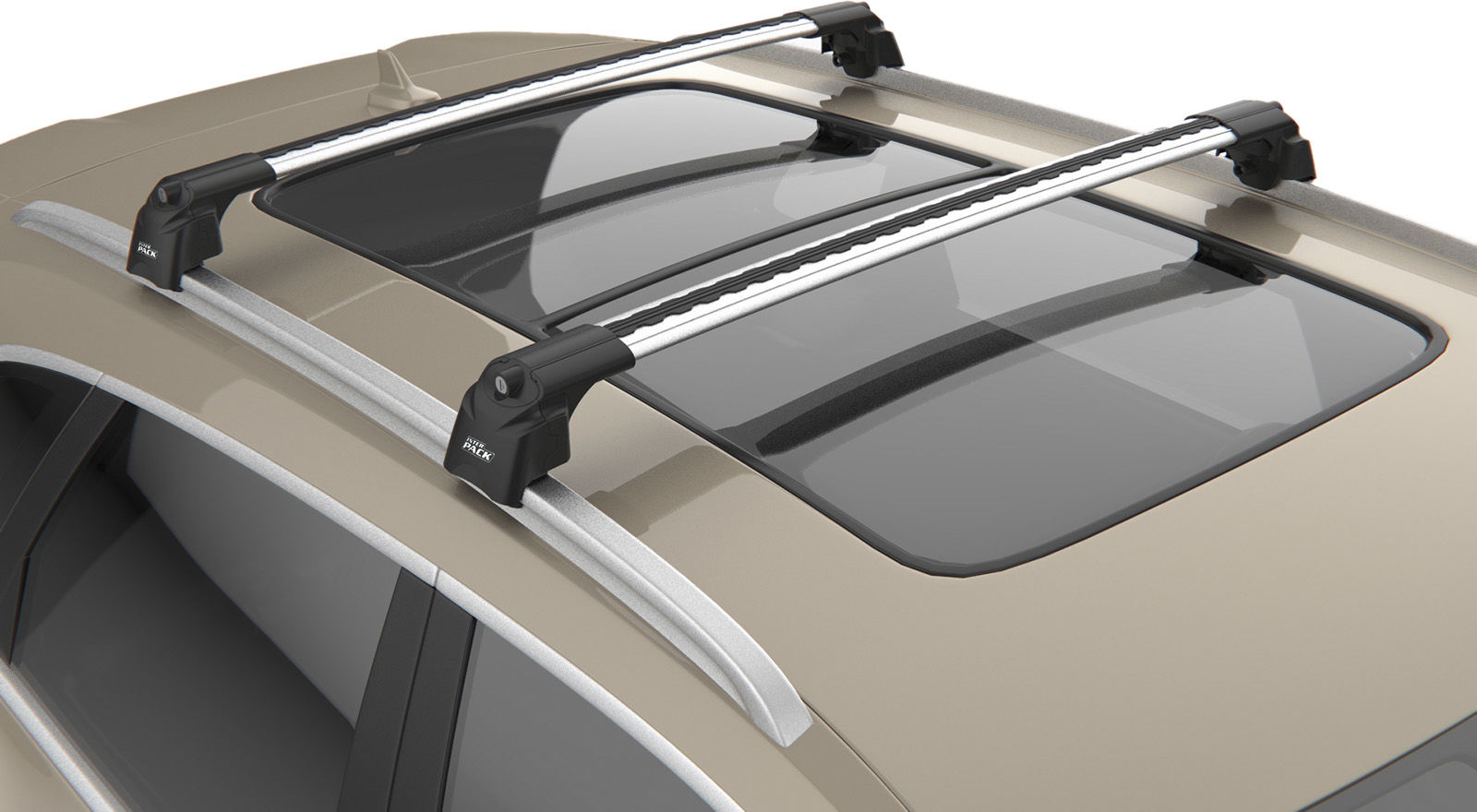Inter Pack Quiet XT IR Bagażnik dachowy Mercedes-Benz C klasa kombi (S205) (belki 90/86 cm)
