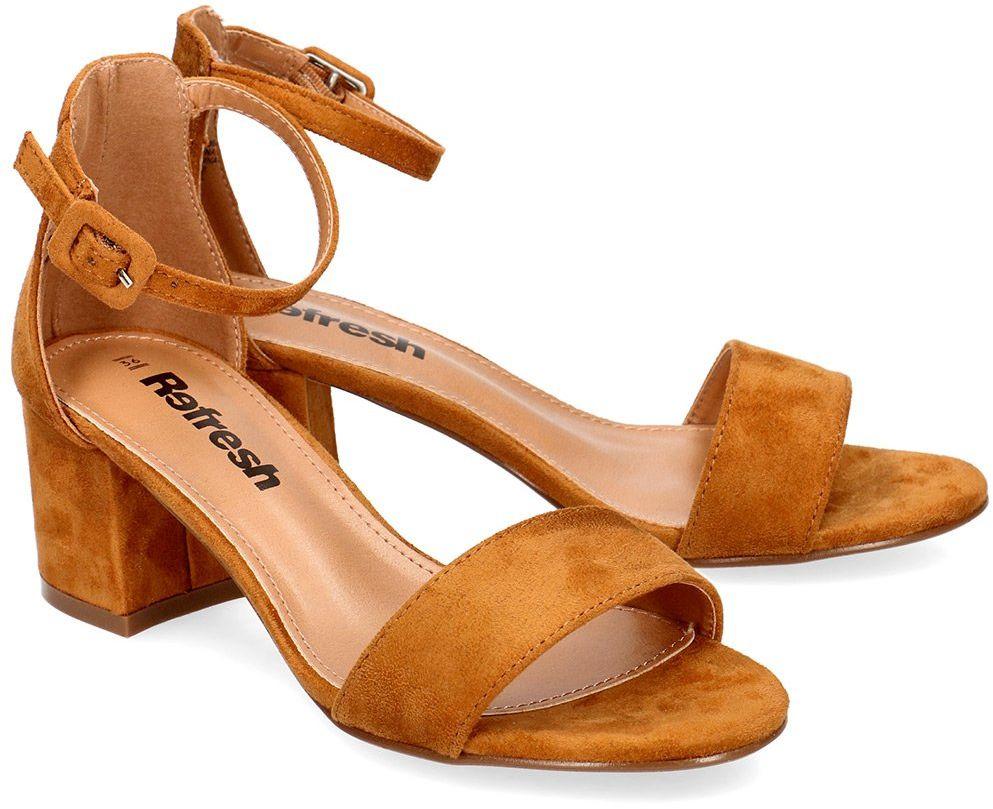 Refresh - Sandały Damskie - 69539 CAMEL - Brązowy