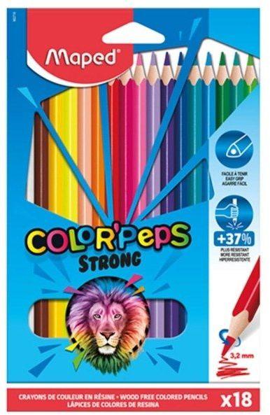 Kredki Colorpeps Strong trójkątne 18 kol MAPED