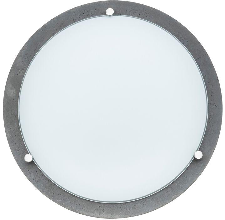 Spot Light 4753236 Rocky plafon lampa sufitowa beton szary klosz szkło biały 2xE27 40W 30cm