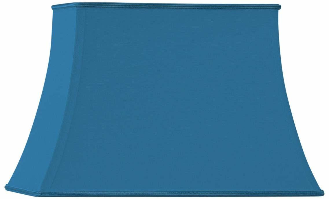 Klosz lampy w kształcie pagody, prostokątny, 40 x 28/25 x 18/27 cm, jasnoniebieski