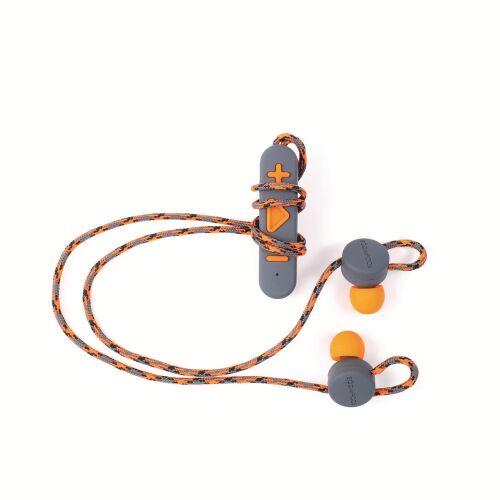 BOOMPODS Słuchawki douszne BT z klipsem pomarańczowe