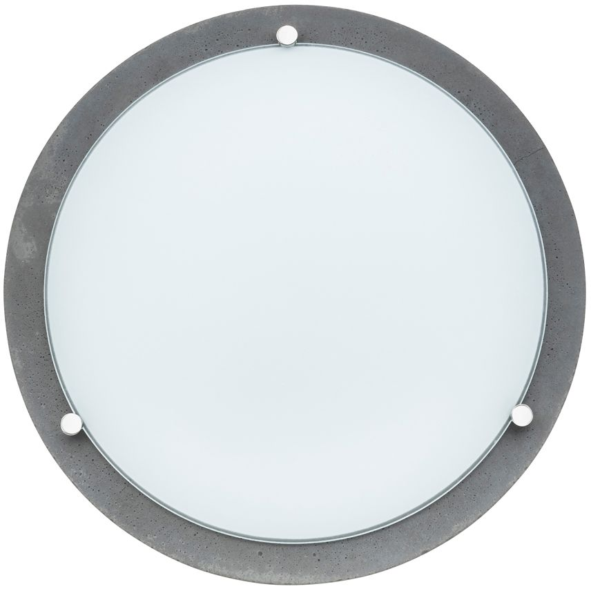 Spot Light 4754236 Rocky plafon lampa sufitowa beton szary klosz szkło biały 3xE27 40W 40cm