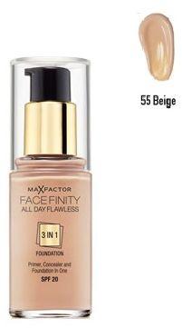 Max Factor Facefinity All Day Flawless 3 in 1 Foundation 55 Beige Podkład - 30ml Do każdego zamówienia upominek gratis.
