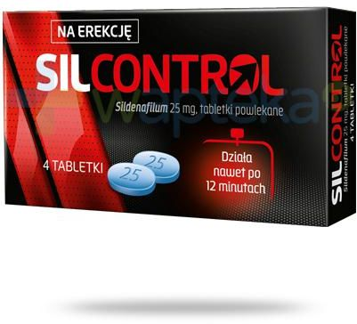 SilControl (Sildenafil 25 mg) 4 tabletki