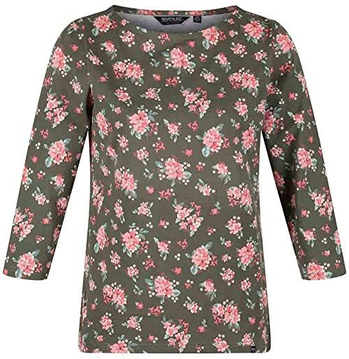 Regatta Damska koszulka polo z długim rękawem Graplffloral XS