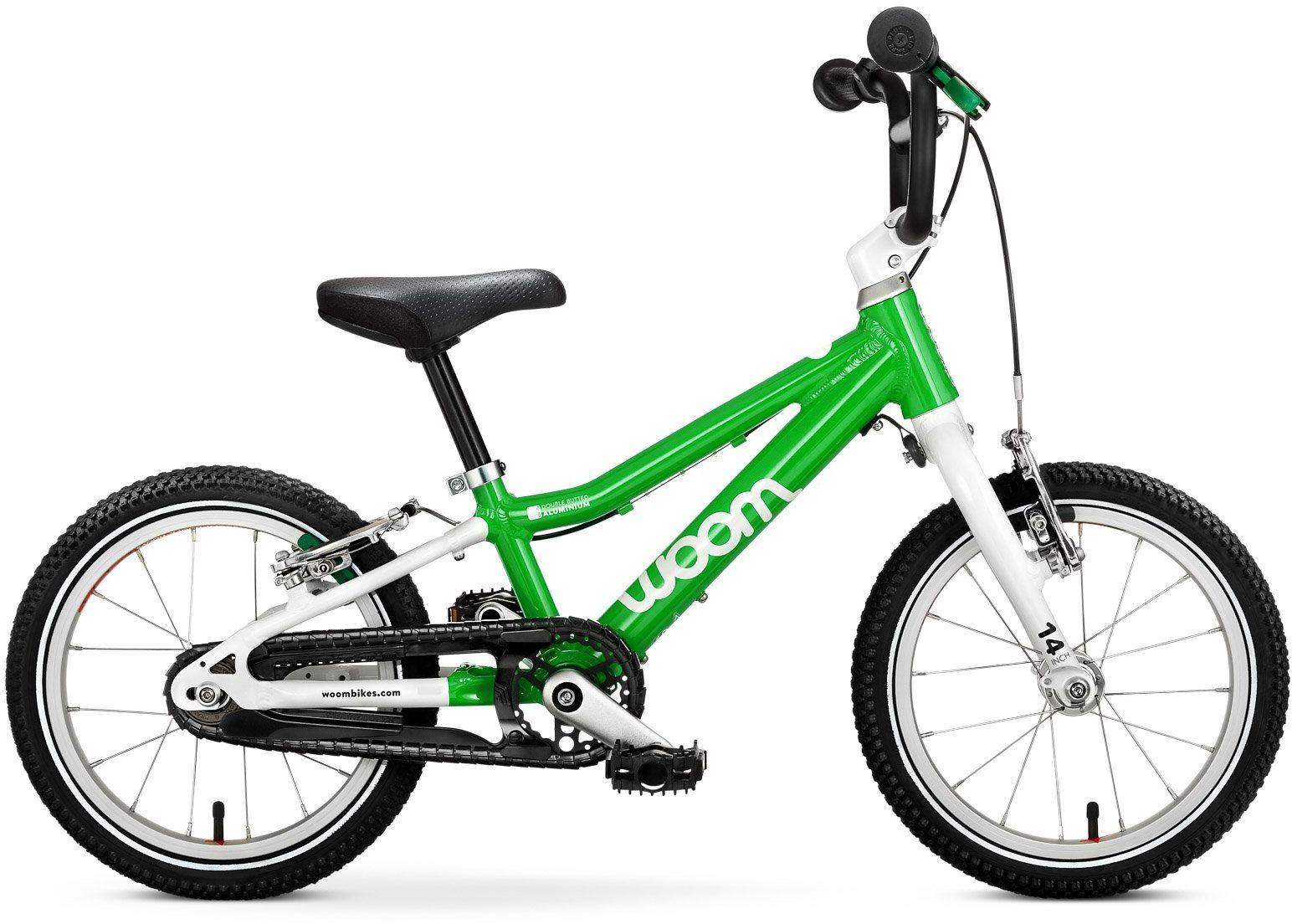Woom 2 rower 14 cali green