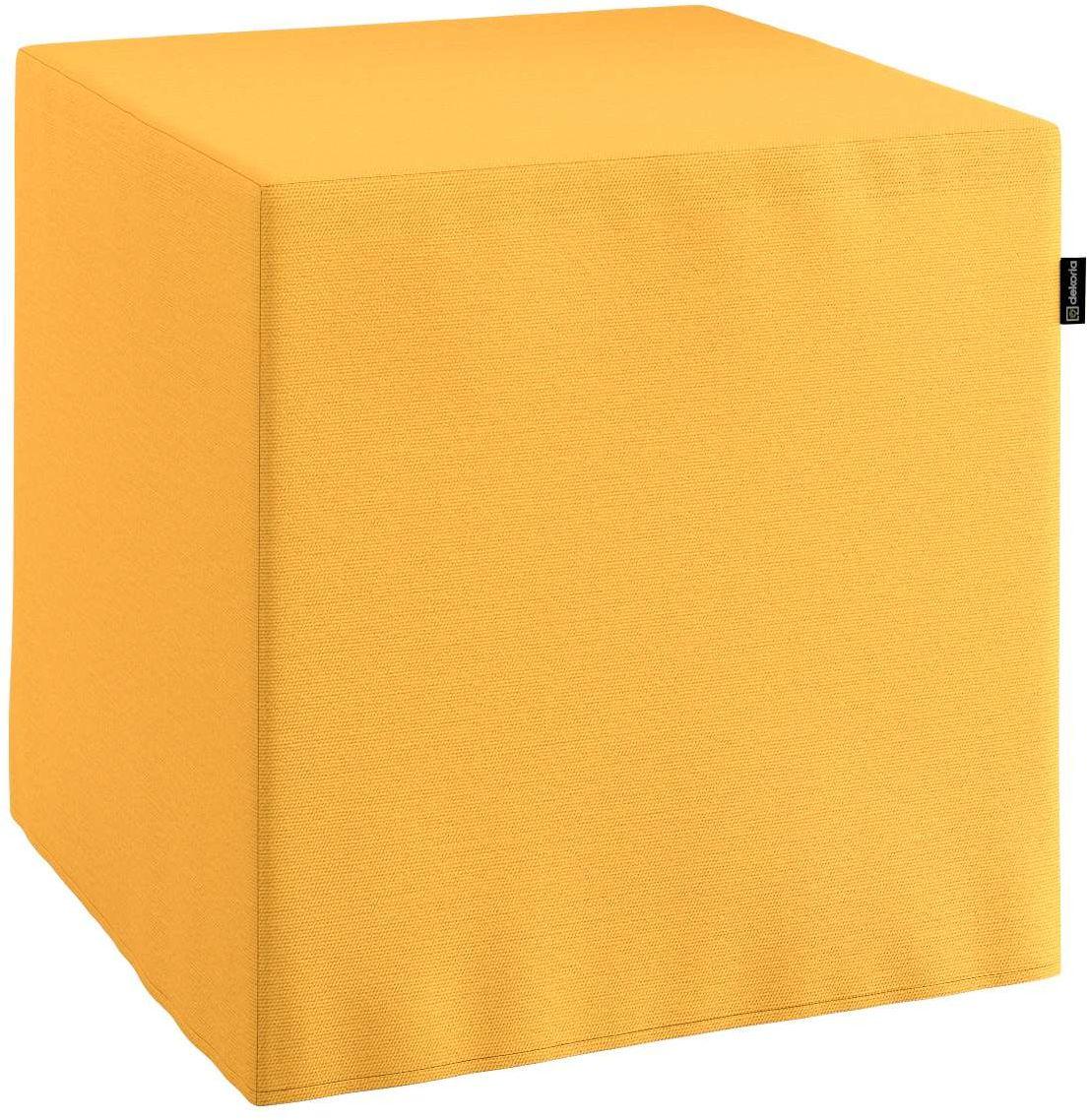 Pufa kostka, żółty, 40  40  40 cm, Loneta