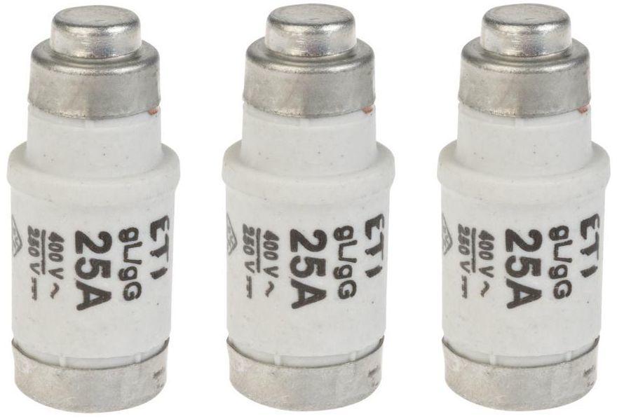 Wkładka topikowa D02 GL 25 A 3szt. 1823 - 00 ETI