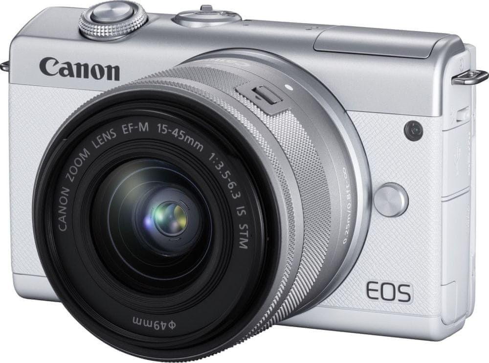 Canon EOS M200+EF-M 15-45mm STM Biały