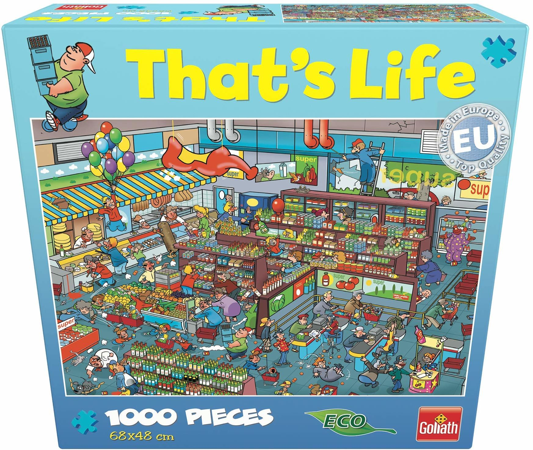 """Goliath Toys 71307006 - Thats'' Life Wimmel Puzzle""""Supermarkt"""""""