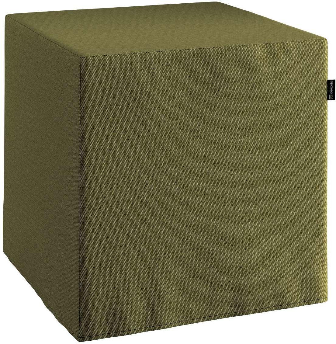 Pufa kostka, oliwkowa zieleń, 40  40  40 cm, Etna