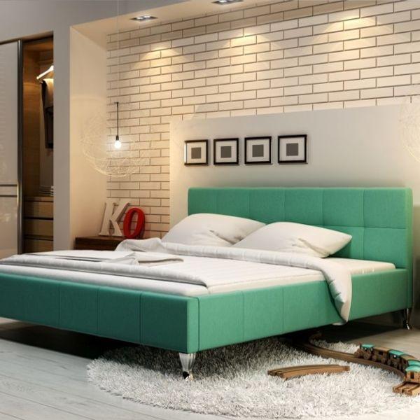 Łóżko FUTURA NEW DESIGN tapicerowane, Rozmiar: 140x200, Tkanina: Grupa II, Pojemnik: Bez pojemnika Darmowa dostawa, Wiele produktów dostępnych od ręki!
