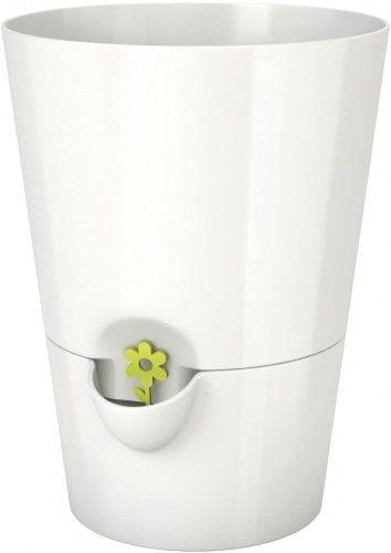Samonawadniająca doniczka na zioła, 13cm, 1.2l, Biała