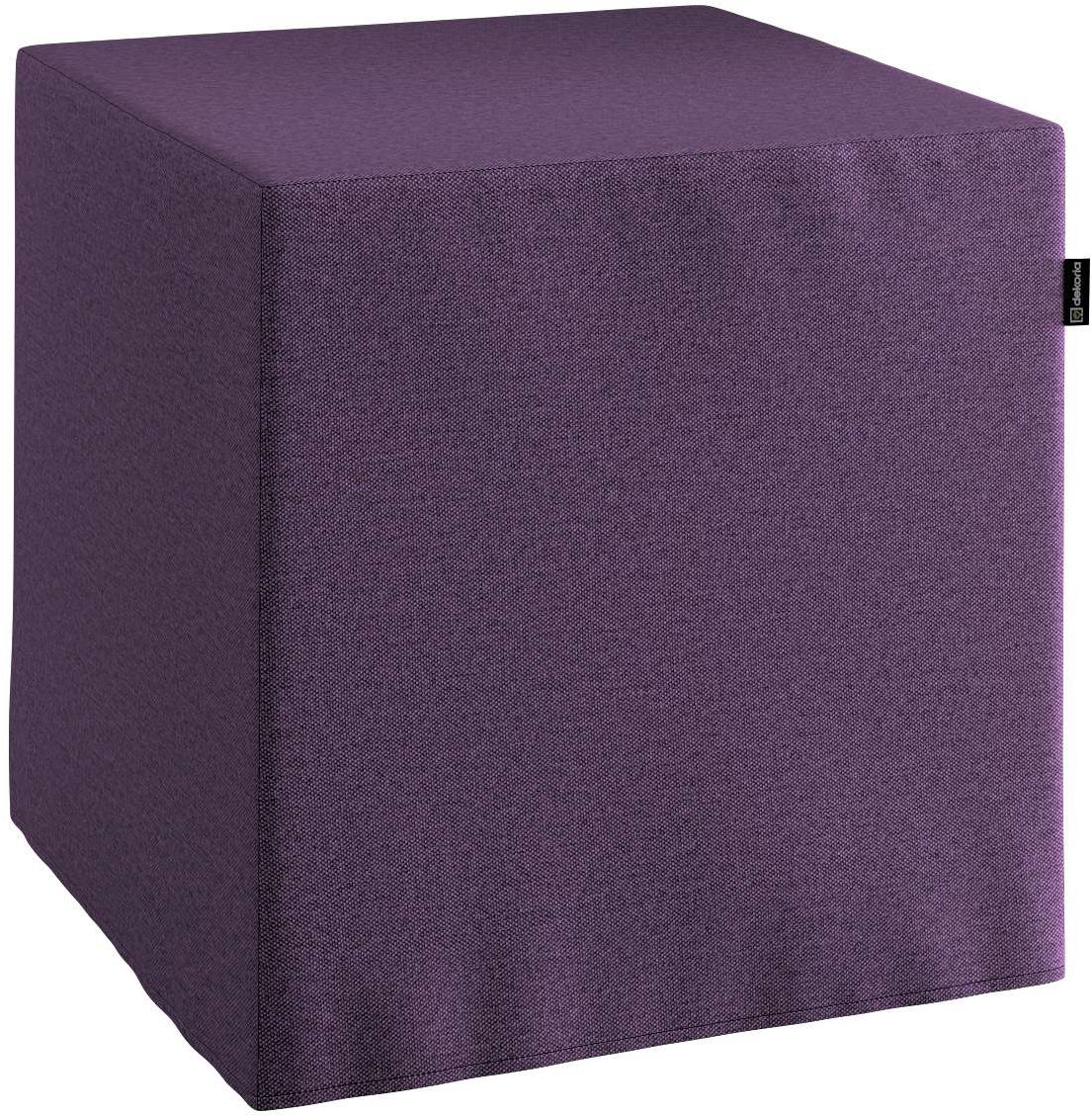 Pufa kostka, fioletowy, 40  40  40 cm, Etna