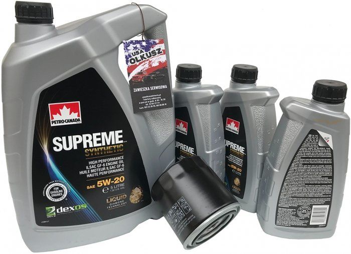 Filtr oraz syntetyczny olej 5W20 Dodge Durango 5,7 -2008
