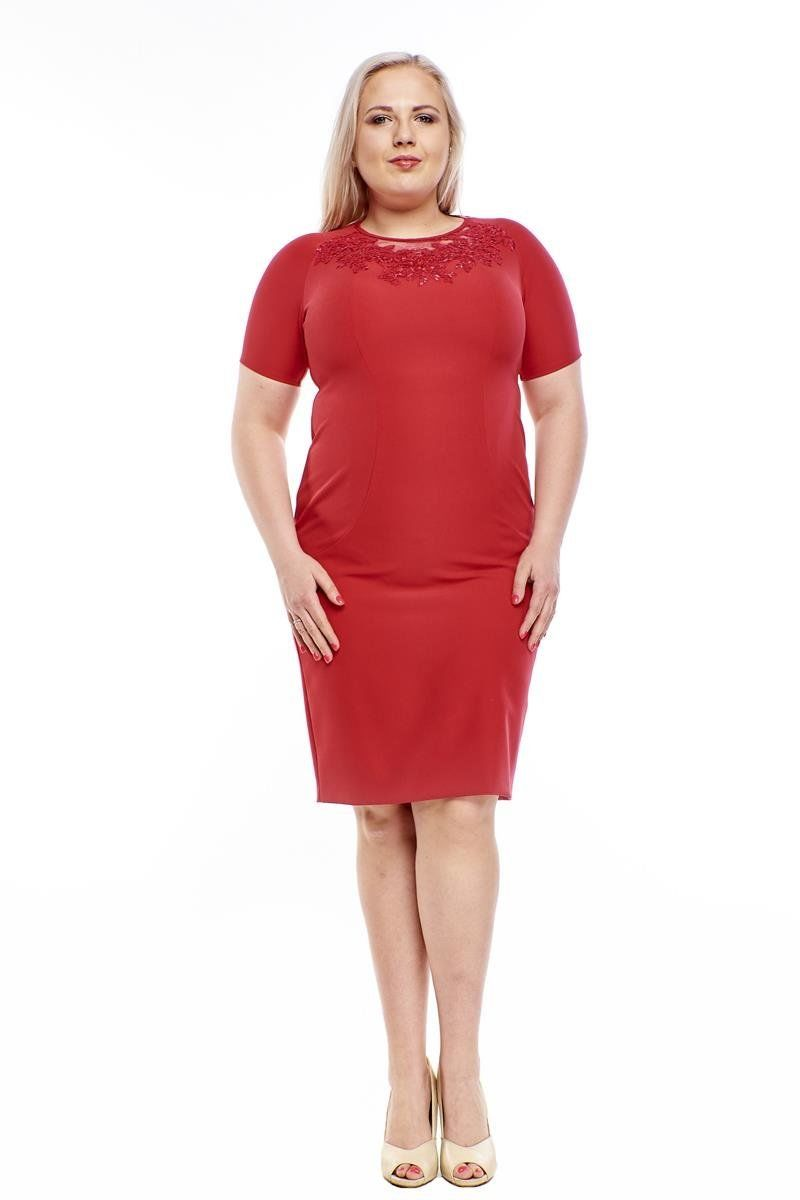 Sukienki Sukienka Suknie FSU1014 MALINOWY
