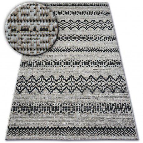 DYWAN SZNURKOWY SIZAL FLOORLUX 20510 srebrny / czarny 60x110 cm