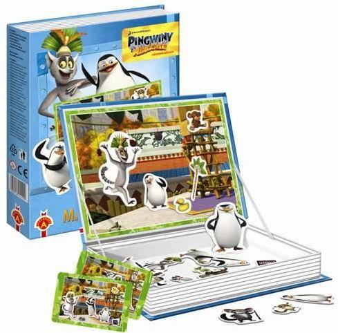 Puzzle magnetyczne Pingwiny z Madagaskaru