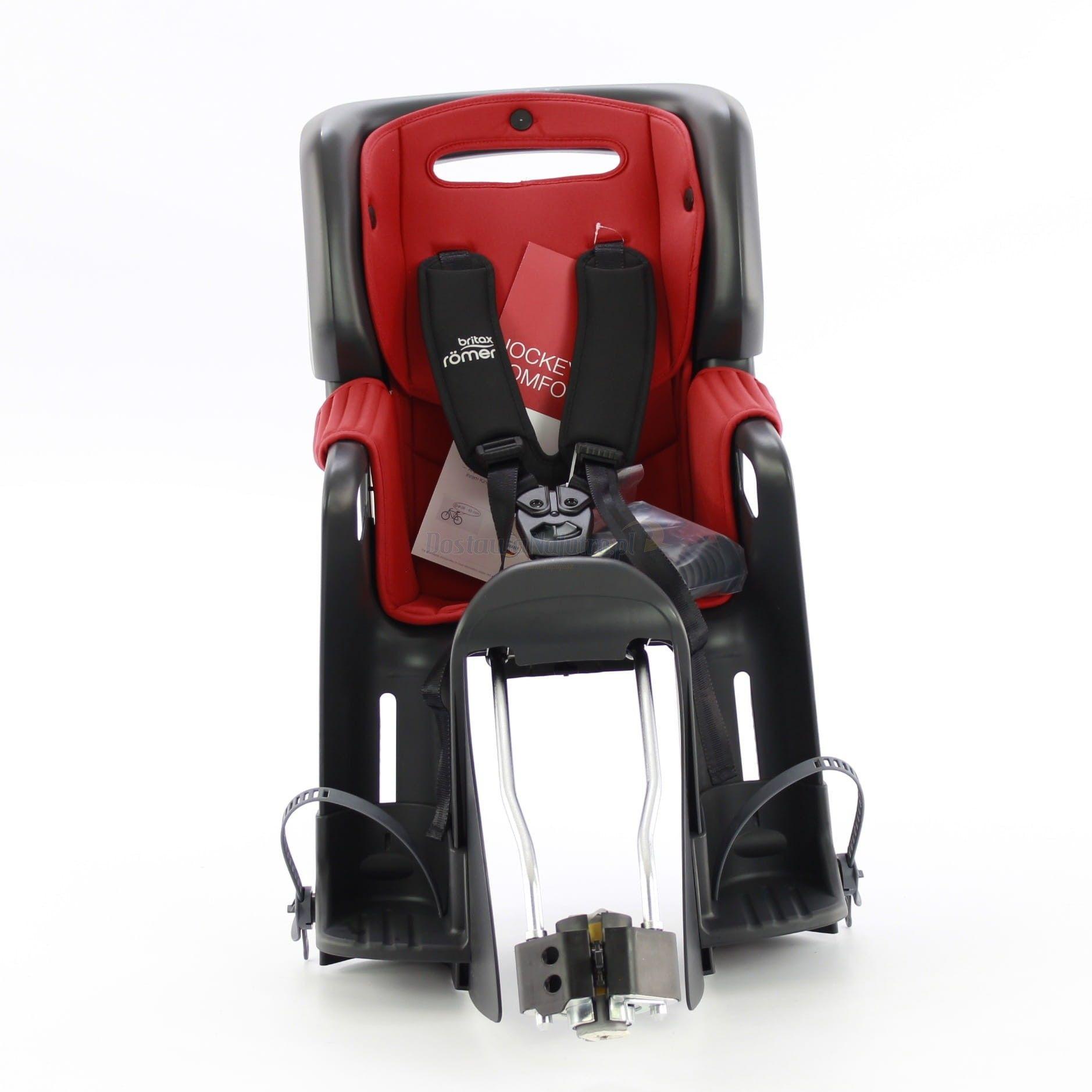 Fotelik rowerowy ROMER JOCKEY 3 COMFORT BRITAX- kolor wyściółki czerwono-granatowy 2020