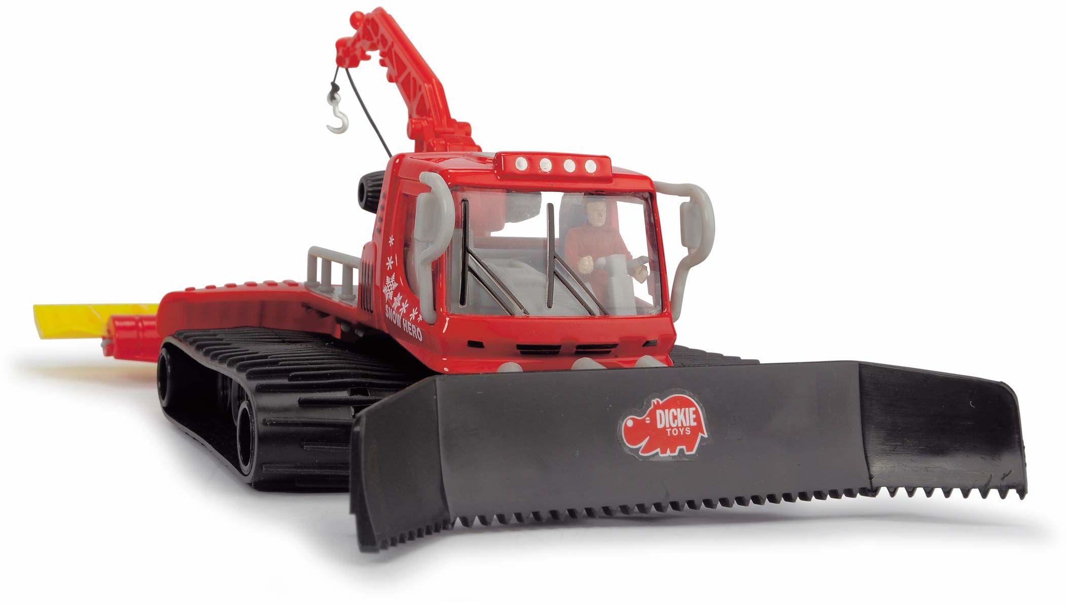 Dickie Toys Gąsienica, śnieżna gąsienica, Snow Hero, ruchome części, 23 cm wielkość, czerwony/czarny