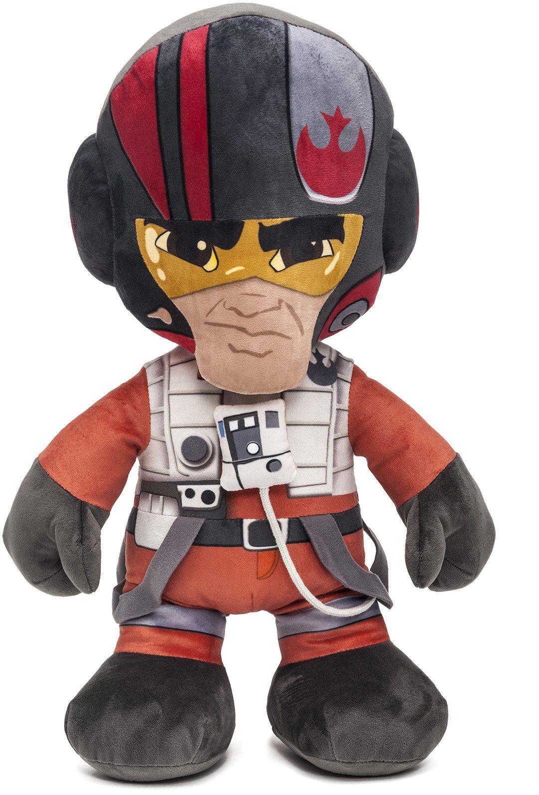 Joy Toy H839940 Star Wars pluszowa figurka XL Poe Episode 7, wielokolorowa