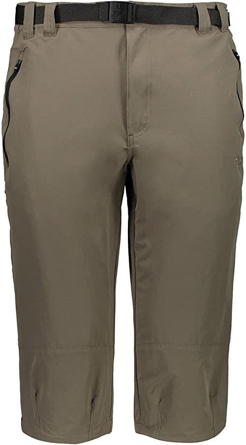 CMP Męskie spodnie outdoorowe ze stretchu Capri brązowy wood 58