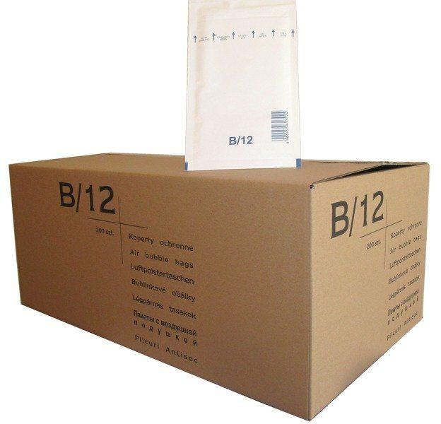 Koperty bąbelkowe B/12 120 x 215 białe 200 szt.