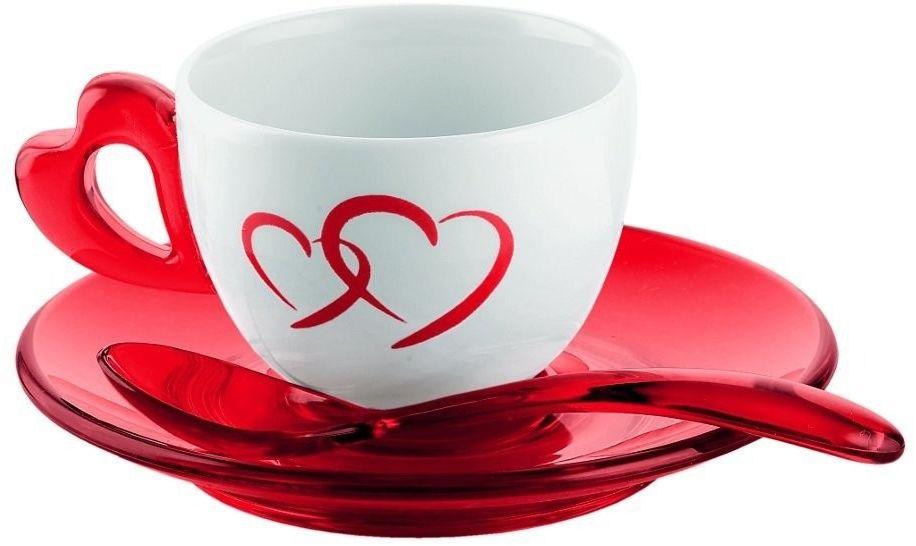 Komplet 2 filiżanek do kawy espresso love