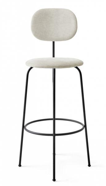Menu AFTEROOM Krzesło Barowe 102 cm Hoker Czarny Tapicerowany - Tkanina Maple 222
