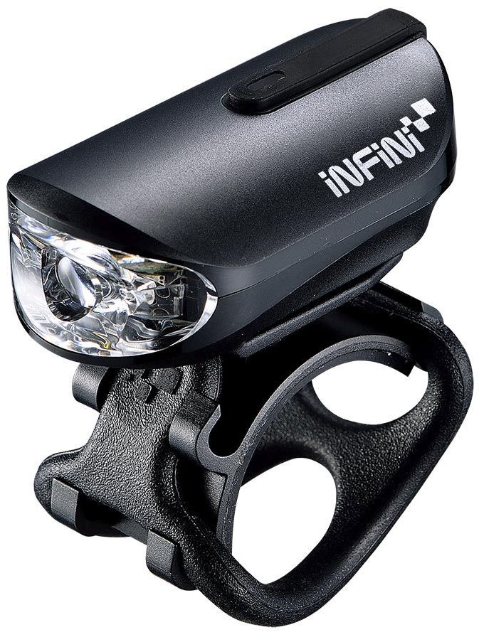 INFINI OLLEY Black USB przednia lampka rowerowa I-210P-B,4712123268729