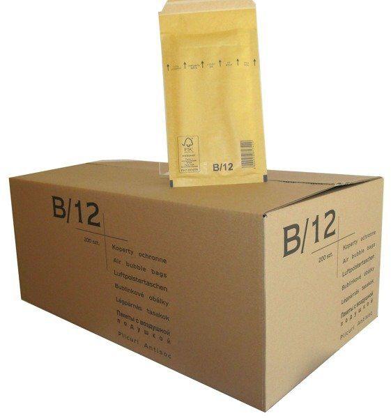 Koperty bąbelkowe B/12 120 x 215 brązowe 200 szt.