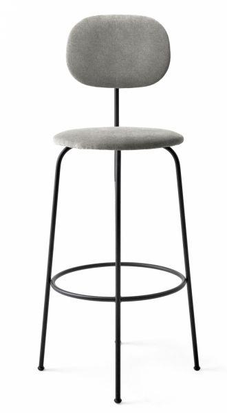 Menu AFTEROOM Krzesło Barowe 102 cm Hoker Czarny Tapicerowany - Tkanina Hallingdal 65-130