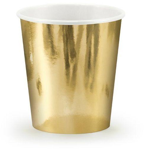 Kubeczki papierowe złote metalizowane 180ml 6sztuk KPP11-019