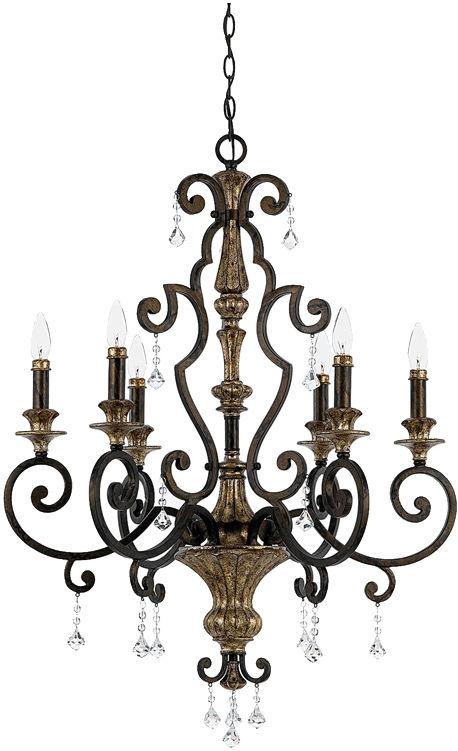 Żyrandol Marquette QZ/MARQUETTE6/A Quoizel klasyczna oprawa wisząca w dekoracyjnym stylu