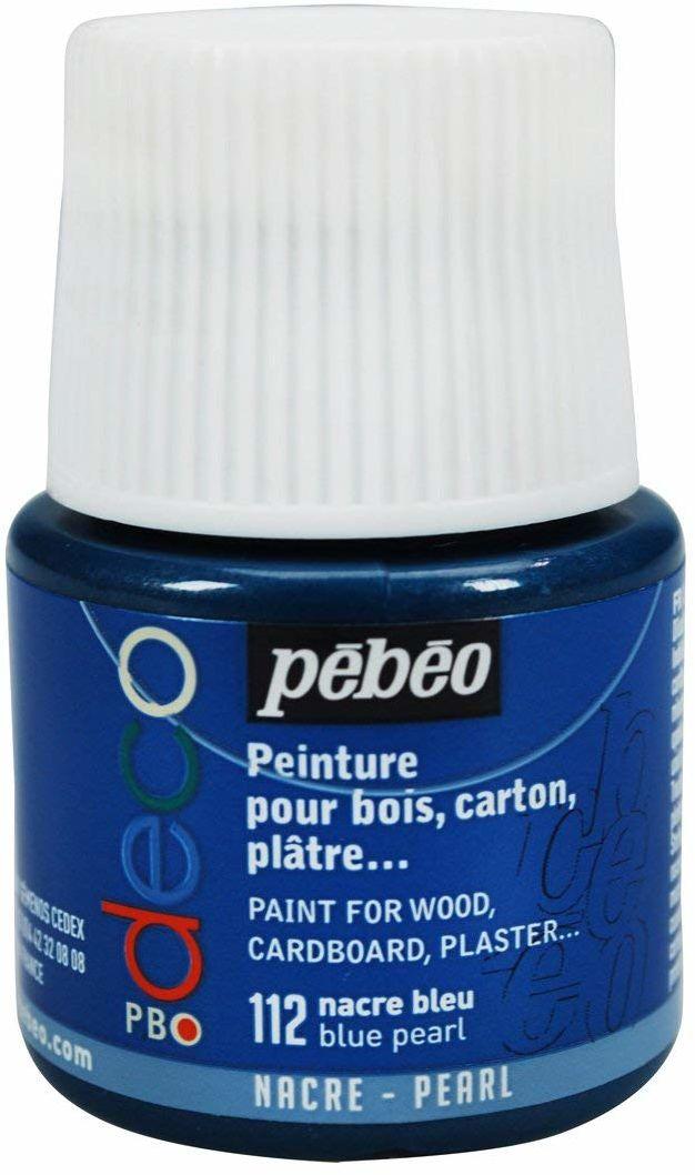 Pébéo 285112 farba akrylowa dekoracyjna, matowa, 45 ml, masa perłowa, 1 butelka