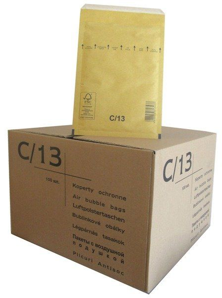 Koperty bąbelkowe C/13 145 x 215 brązowe 100 szt.