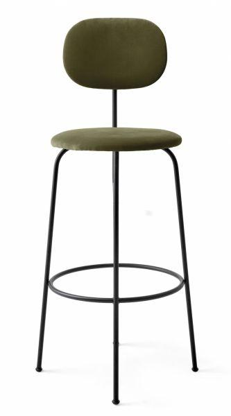 Menu AFTEROOM Krzesło Barowe 102 cm Hoker Czarny Tapicerowany - Tkanina City Velvet CA7832/031