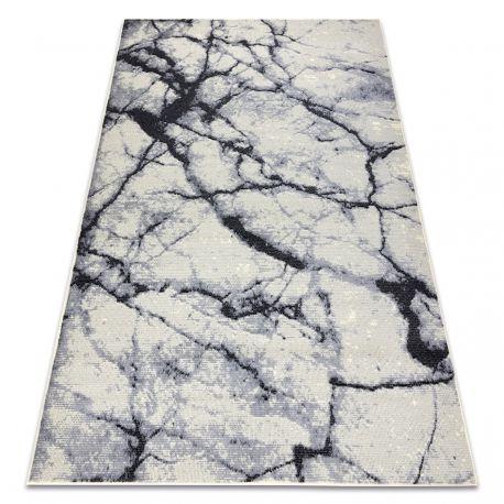 Dywan BCF BASE Stone 3988 Kamień, marmur kość słoniowa / szary 120x160 cm