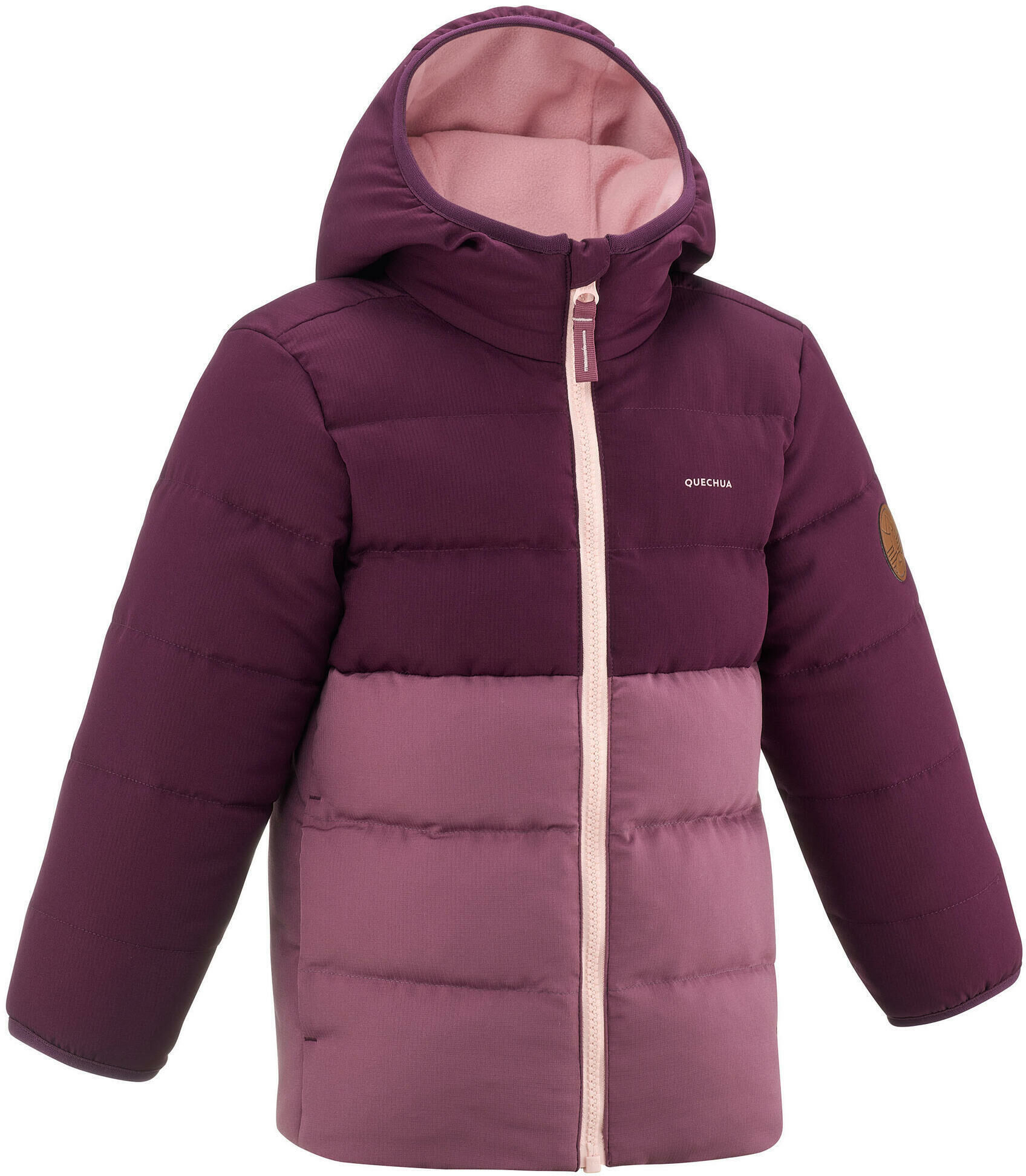 Kurtka turystyczna zimowa dla dzieci Quechua X-Warm