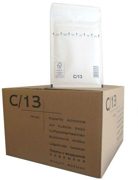Koperty bąbelkowe C/13 145 x 215 białe 100 szt.