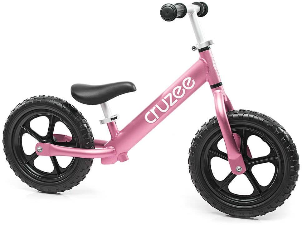 Rowerek biegowy Cruzee 12 różowy pink czarne koła